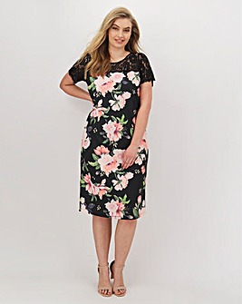 Joanna Hope Scuba Lace Dress