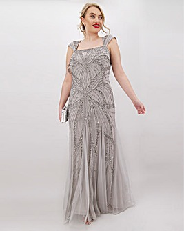Joanna Hope Silver Beaded Maxi