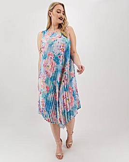 Joanna Hope Print Pleated Midi Dress