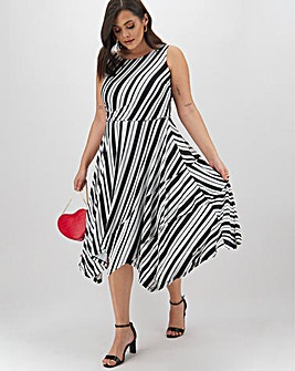 Joanna Hope Striped Midi Dress