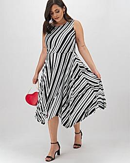 Joanna Hope Striped Midi Dress