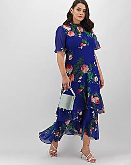 Joanna Hope Print Frill Maxi Dress