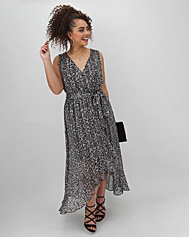 Joanna Hope Wrap Hi Low Dress