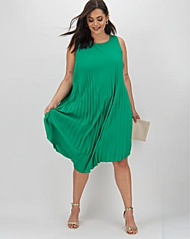 Joanna Hope Pleat Aysemetric Dress