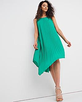 Joanna Hope Pleat Asymmetric Dress