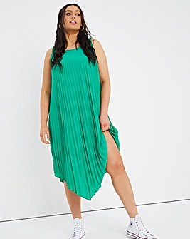 Joanna Hope Pleat Asymmetric Dress