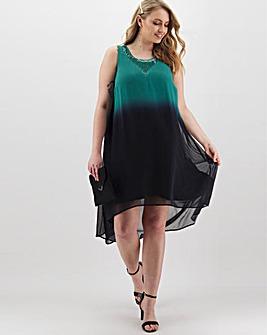 Joanna Hope Dip Dye Hi Low Hem Dress