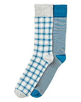 Pack of 2 Printed Socks