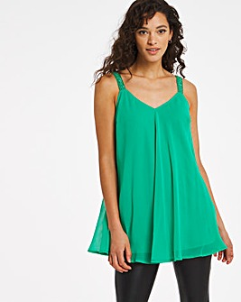 Joanna Hope Bead Trim Swing Cami