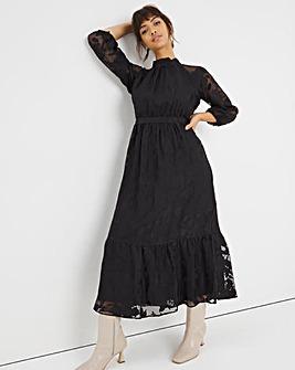 Joanna Hope High Neck Burnout Dress