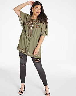Joanna Hope Hand Embellished Tunic