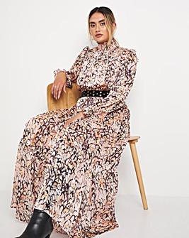 Jo Shirred Maxi Dress
