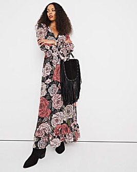 Jo Tiered Frill Print Dress