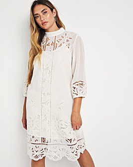 Jo Embroidered Shift Dress