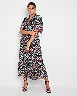 Jo Foil Print Midi Dress