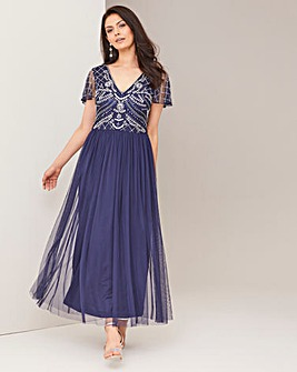 Joanna Hope Embellished Bodice Dress