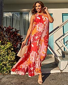 Joanna Hope Pleated Trapeze Maxi Dress