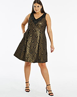 Joanna Hope Jacquard Dress