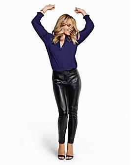 Joanna Hope Leather Ponte Trouser