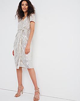 Joanna Hope Stretch Sequin Midi Dress