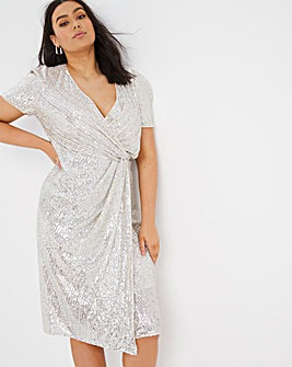 Joanna Hope Stretch Sequin Midi Dress