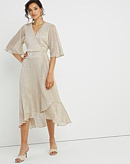 Joanna Hope Sparkle Frill Plisse Dress