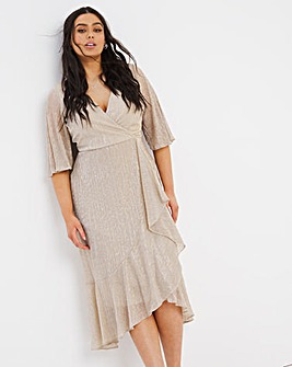 Joanna Hope Sparkle Frill Plisse Dress