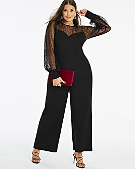 Joanna Hope Balloon Sleeve Jumpsuit