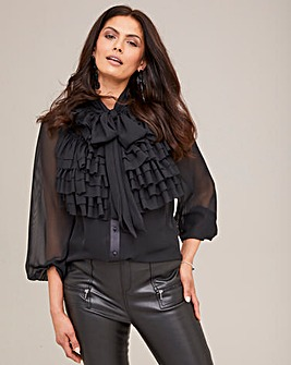 Joanna Hope Ruffle Blouse