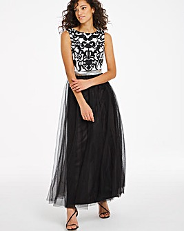 Joanna Hope Contrast Lace Maxi Dress