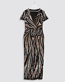 Joanna Hope Machine Sequin Maxi Dress