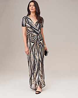Joanna Hope Machine Sequin Maxi Dress