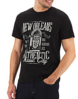 New Orleans Printed T-shirt Long