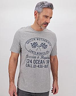 Custom Motor Printed T-shirt Long