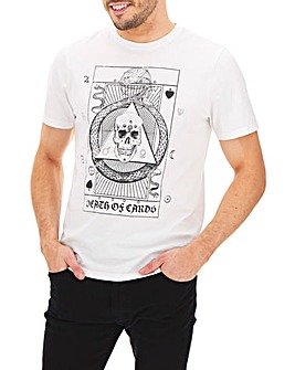 Skull Tarot Card Printed T-shirt Long