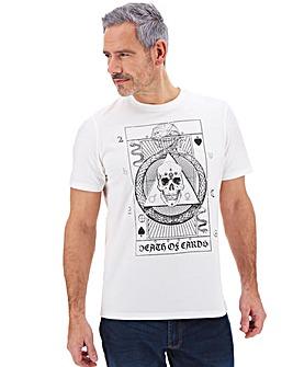 Skull Tarot Card Printed T-shirt Long