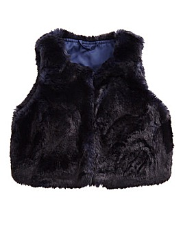 Barneys Girls Faux Fur Gilet (2-7 yrs)