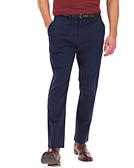 """Navy Belted Chino Trouser 33"""""""