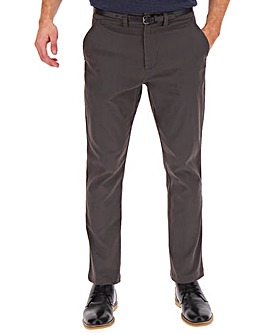 Charcoal Belted Chino Trouser 31""