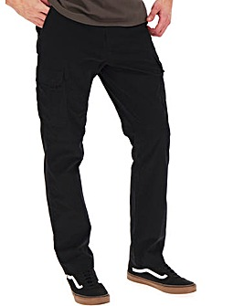 Utility Black Cargo Trousers 33""