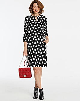 Split Sleeve Shift Dress