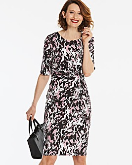 Pink Print Twist Knot Dress