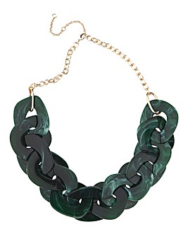 Green Resin Chain Necklace