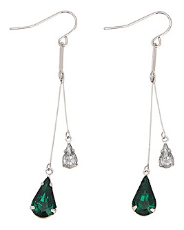 Emerald Diamante Drop Earring