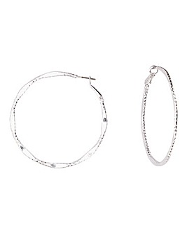 Sparkle Cut Hoop Earrings