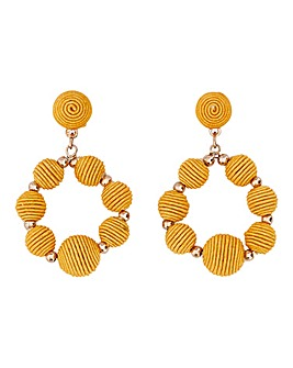 Mustard Ball Drop Earrings