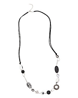 Diamante Stone Station Necklace