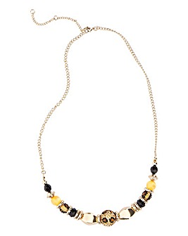 Leopard Shambala Necklace