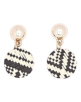 Woven Drop Earrings