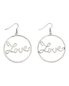 Love Drop Hoop Earrings